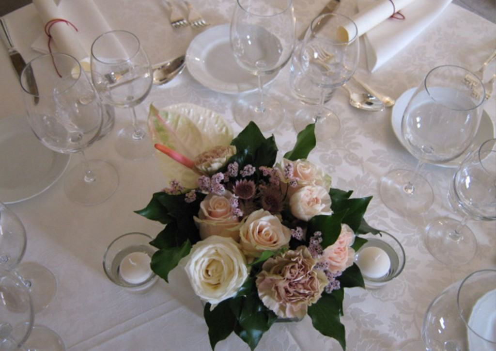 Wedding in Florence - banquet ornament