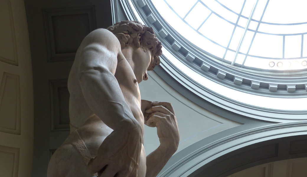 Michelangelo's David has a message for you