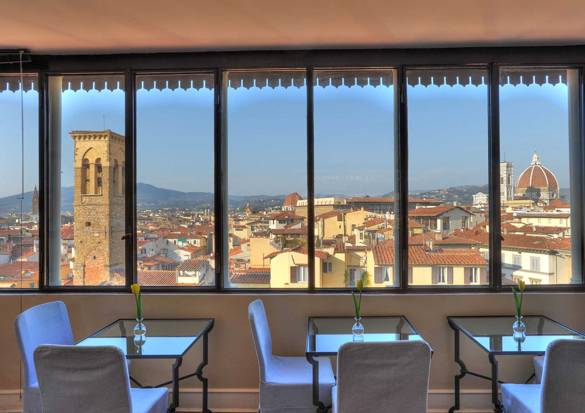 luxury hotel in florence breakfast view