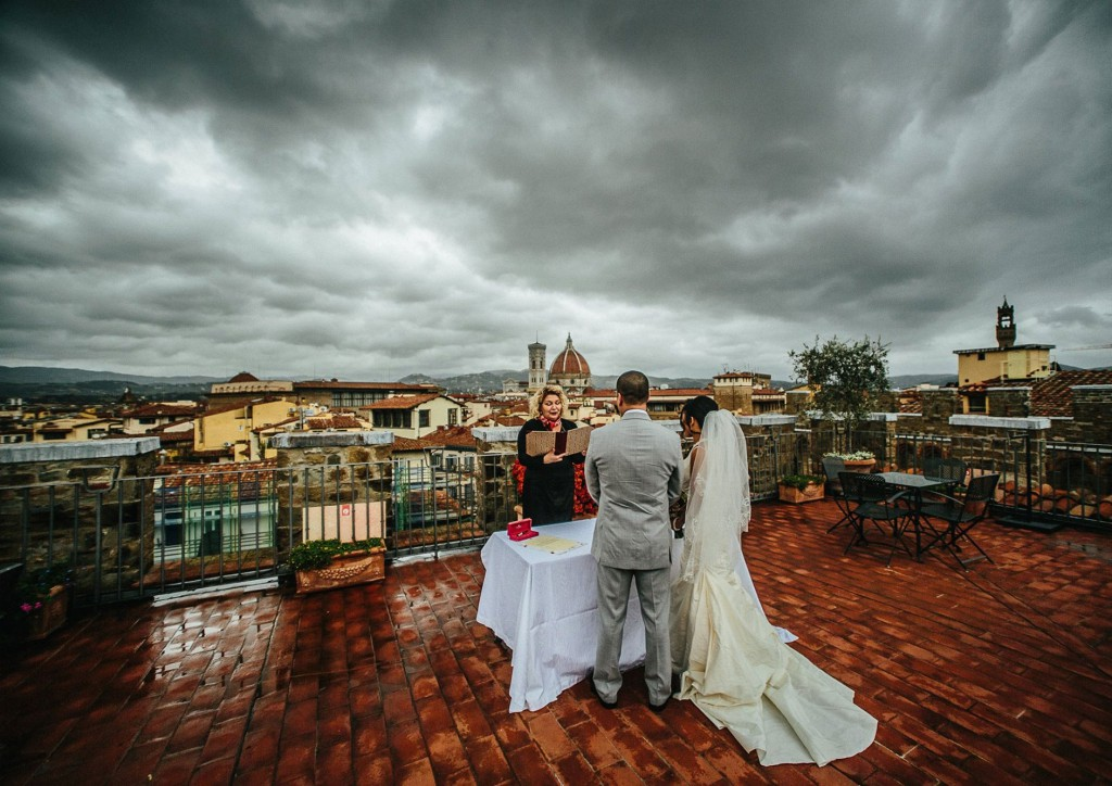 rooftop Florence wedding